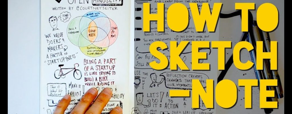 A Look Through My Sketchnote Book: Tips & Recommendations on Layout, Process, Pens, and More!